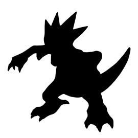 Pokemon – Golduck Silhouette Stencil