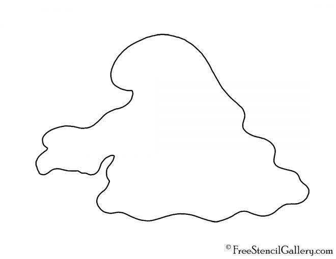 Pokemon - Grimer Silhouette Stencil