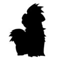 Pokemon - Growlithe Silhouette Stencil