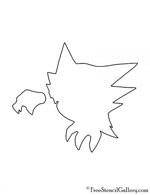 Pokemon - Haunter Silhouette Stencil
