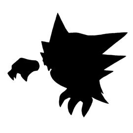 Pokemon – Haunter Silhouette Stencil