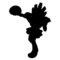 Pokemon - Hitmonchan Silhouette Stencil