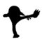 Pokemon - Hitmonlee Silhouette Stencil