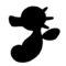 Pokemon - Horsea Silhouette Stencil