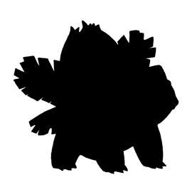 Pokemon – Ivysaur Silhouette Stencil
