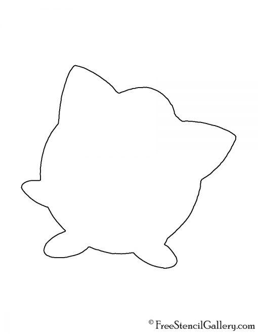 Pokemon - Jigglypuff Silhouette Stencil