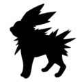 Pokemon - Jolteon Silhouette Stencil