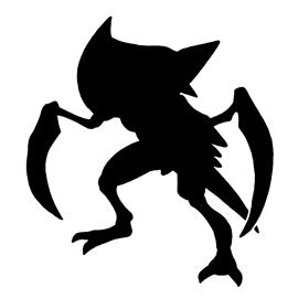 Pokemon – Kabutops Silhouette Stencil