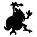 Pokemon - Kadabra Silhouette Stencil