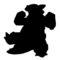 Pokemon - Kangaskhan Silhouette Stencil