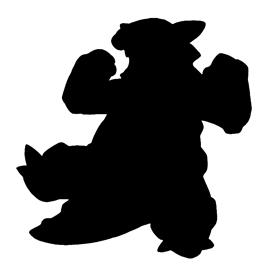 Pokemon – Kangaskhan Silhouette Stencil