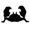 Pokemon - Krabby Silhouette Stencil