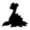 Pokemon - Lapras Silhouette Stencil