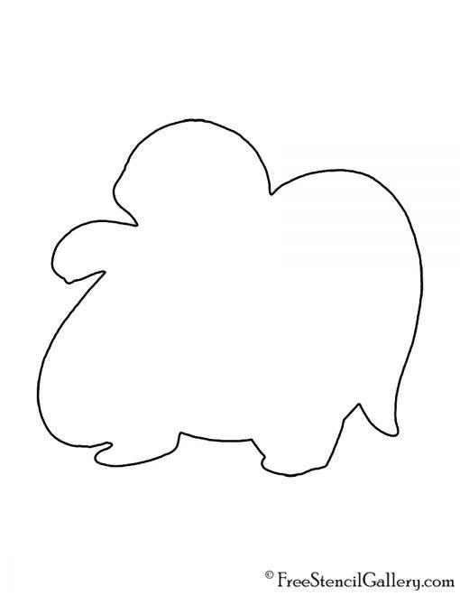 Pokemon - Lickitung Silhouette Stencil