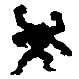 Pokemon – Machamp Silhouette Stencil