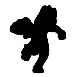 Pokemon – Machop Silhouette Stencil
