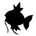 Pokemon - Magikarp Silhouette Stencil