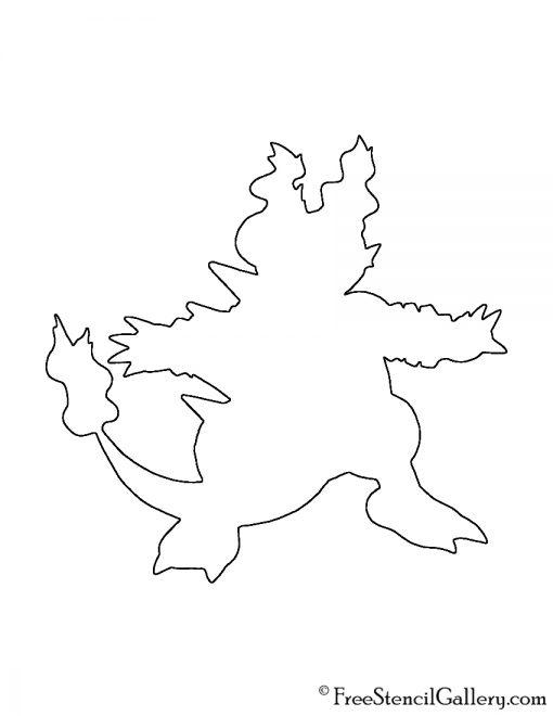 Pokemon - Magmar Silhouette Stencil