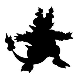 Pokemon – Magmar Silhouette Stencil