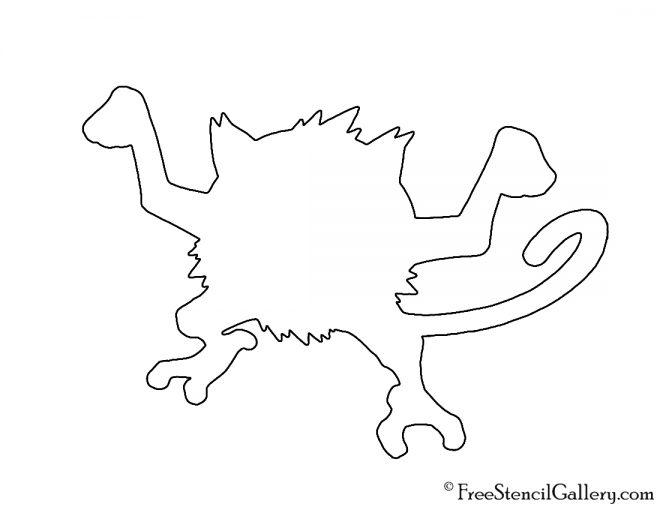 Pokemon - Mankey Silhouette Stencil