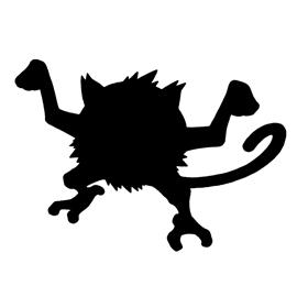 Pokemon – Mankey Silhouette Stencil