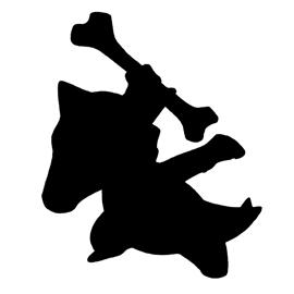 Pokemon – Marowak Silhouette Stencil
