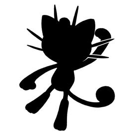 Pokemon – Meowth Silhouette Stencil