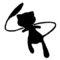 Pokemon - Mew Silhouette Stencil