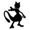 Pokemon - Mewtwo Silhouette Stencil
