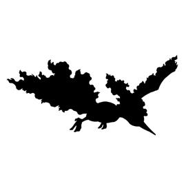 Pokemon – Moltres Silhouette Stencil