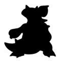 Pokemon - Nidoqueen Silhouette Stencil
