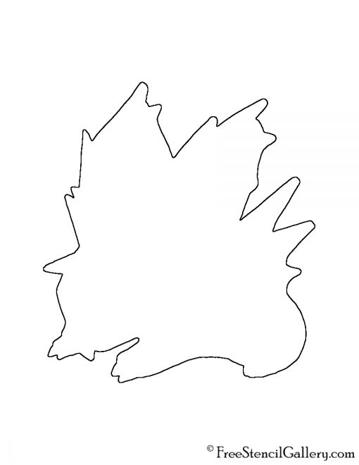 Pokemon - Nidoran 02 Silhouette Stencil