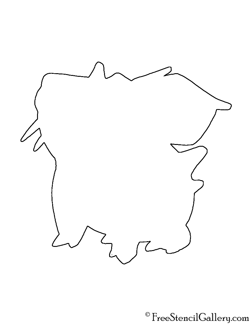 Pokemon - Nidoran Silhouette Stencil