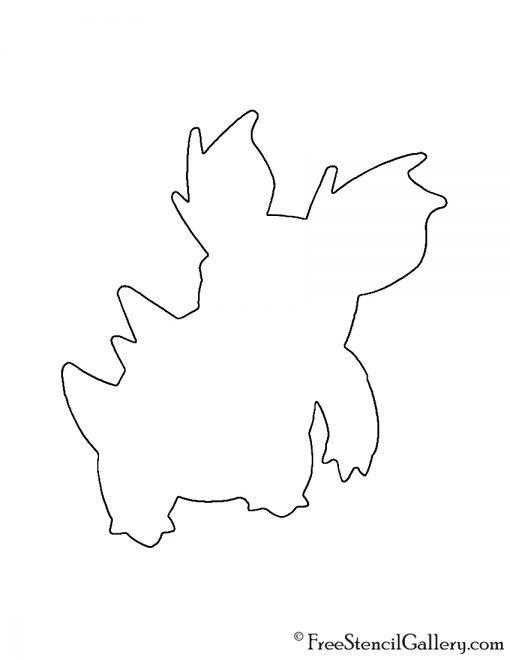 Pokemon - Nidorina Silhouette Stencil