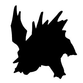 Pokemon – Nidorino Silhouette Stencil