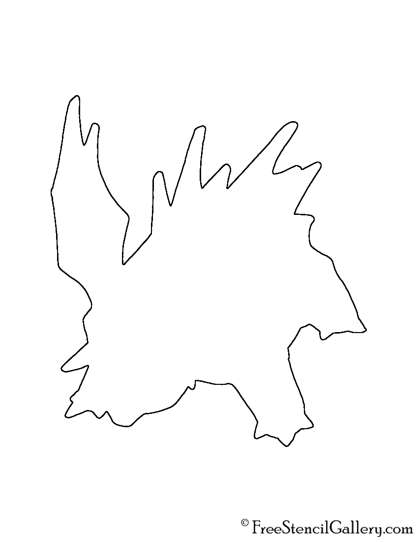 Pokemon - Nidorino Silhouette Stencil