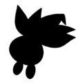 Pokemon - Oddish Silhouette Stencil