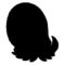 Pokemon - Omanyte Silhouette Stencil