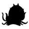 Pokemon - Omastar Silhouette Stencil