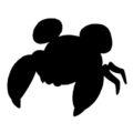 Pokemon - Paras Silhouette Stencil