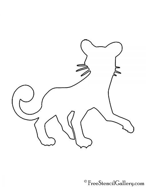 Pokemon - Persian Silhouette Stencil