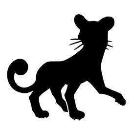 Pokemon – Persian Silhouette Stencil