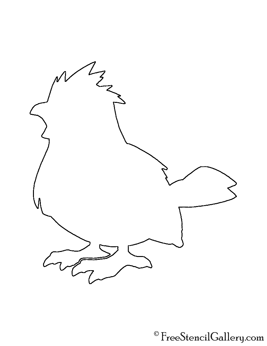 Pokemon - Pidgey Silhouette Stencil