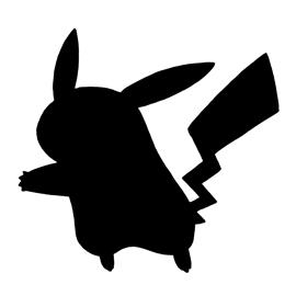 Pokemon – Pikachu Silhouette Stencil