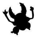 Pokemon - Pinsir Silhouette Stencil