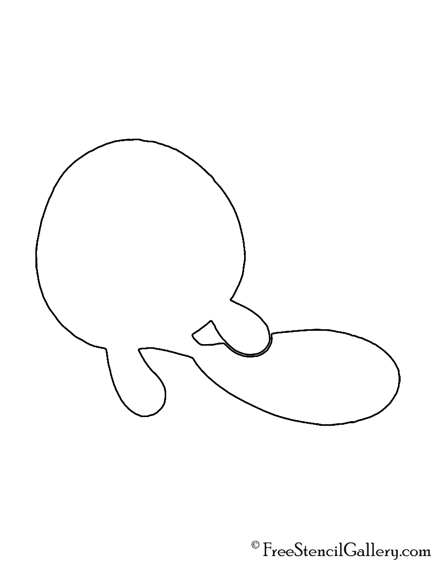Pokemon - Poliwag Silhouette Stencil
