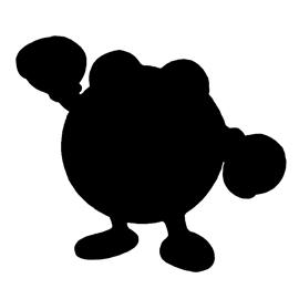 Pokemon – Poliwhirl Silhouette Stencil