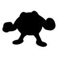 Pokemon - Poliwrath Silhouette Stencil