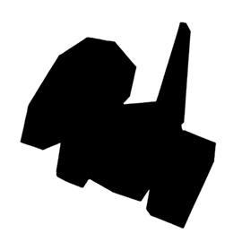 Pokemon – Porygon Silhouette Stencil
