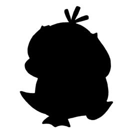 Pokemon – Psyduck Silhouette Stencil